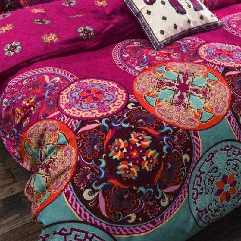 4 Bohemian /3PCS3d Bedding Sets Sham Boho Mandala Duvet Cover Set Winter Bedsheet Queen King Size Cotton Folk-custom 40