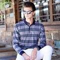 ДЖУНГЛИ ЗОНЫ 2016 новый мужская polo рубашка хит цвет плед рубашку с длинными рукавами POLO мужская классический polo alh004