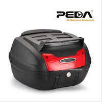 PEDA 2018 Motorcycle Top case PP scooter trunk Tail Box 48x42.5x30.5cm Scooter Cargo Case Carrier Box Topcases Carrier Box