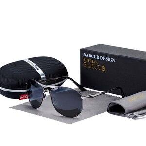 Image 4 - BARCUR High Quality Male Sunglasses Men Polarized Brand Design Sun Glasses Male Oculos Mens Sunglasses s8712 Brand designer