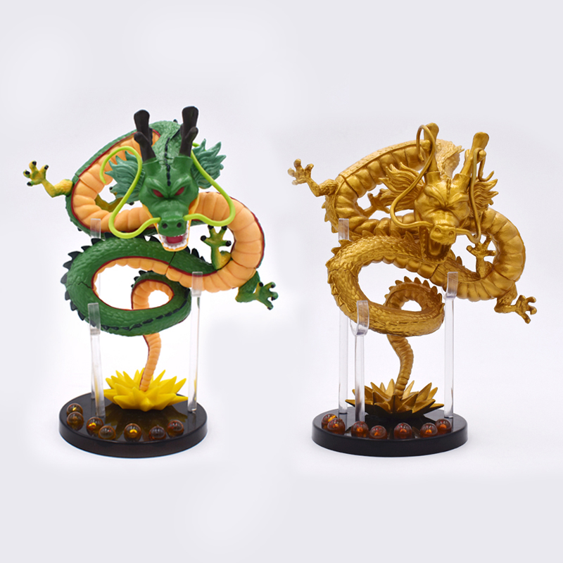 2 Styles Green Gold 15cm Anime Dragon Ball Z ShenRon ShenLong PVC Action Figure Collection Model Toy Selectable Free Shipping