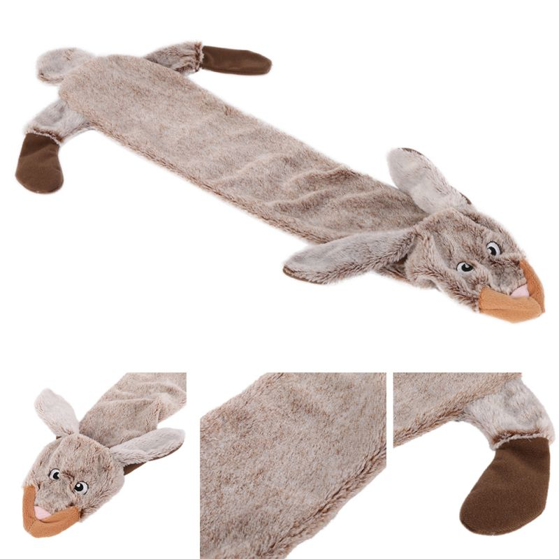 Cute Wolf Toys Stuffed Squeaking Animals Pet Toy Plush Rabbit Honking Squirrel For Dogs Chew Squeaker Squeaky Dog Toys #3