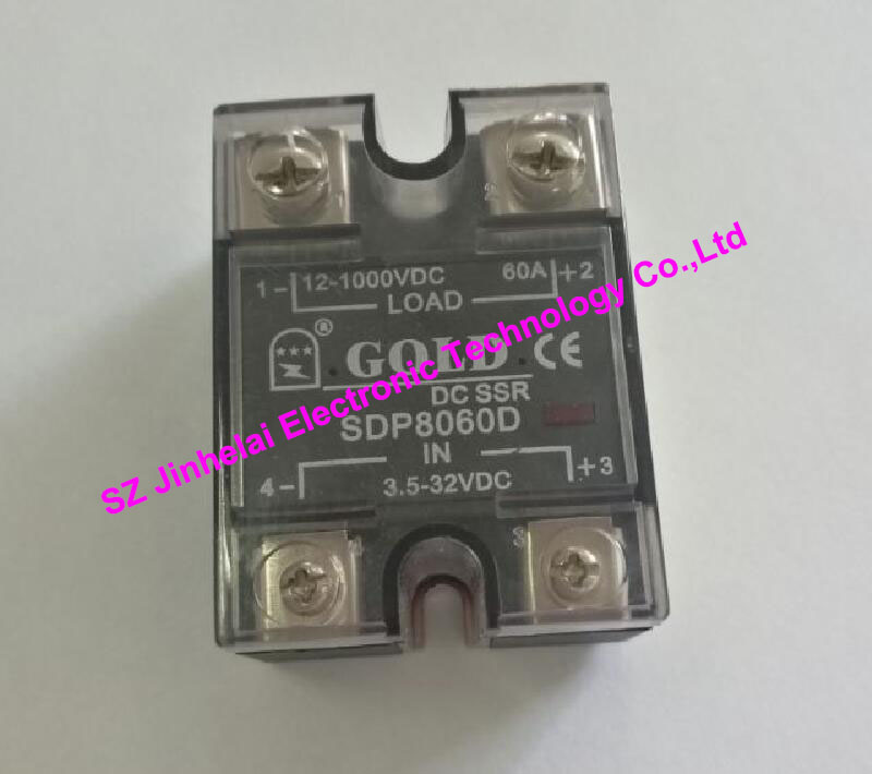 100% New and original  SDP8060D  GOLD  Single phase DC Solid state relay   12-1000VDC  3.5-32VDC   60A saimi skdh145 12 145a 1200v brand new original three phase controlled rectifier bridge module