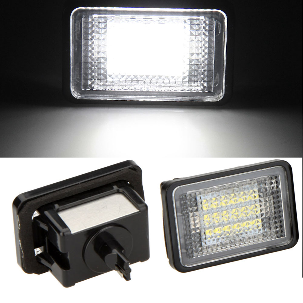 Qook 2piece LED number-plate light  License Plate Light Lamp for Mercedes Benz GLK350 GLK X204(07~)  Number Plate Lamp сумка armani 90648