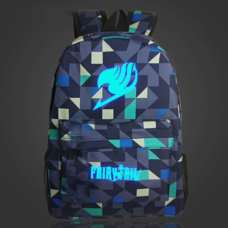 Cosplaylegend Fairy Tail School Bags For Teenagers Mens Backpack Night Lights bag