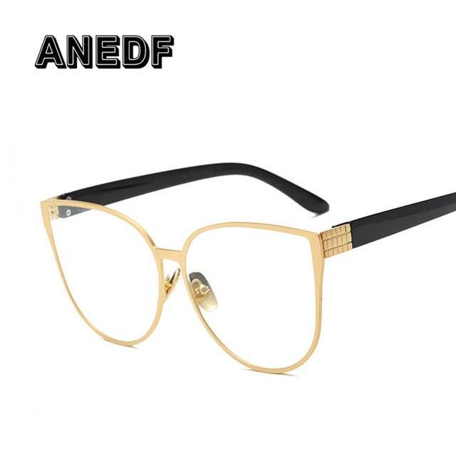 ANEDF gato ojo gafas marcos hombres claro lente gafas marco mujer ...
