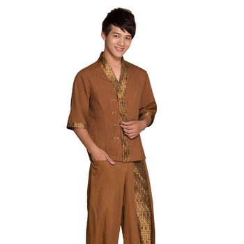 Summer Autumn Thai massage health bath technician work clothes Suits SPA club Thailand style bathing mens Massage Work Uniform
