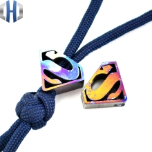EDC Knife Tools Pendant Multi Titanium Alloy Anodized Beads Lanyard Bead Zipper Pull Cord New