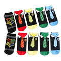Personality Summer Low Cut Socks Men Women Ankle Socks Harry Potter Tie Pattern Cute Cartoon Socks