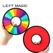 6 шт./партия, радужные кольца, волшебные фокусы, меняющее цвет, магическое волшебное кольцо, аксессуары для сцены, иллюзия, реквизит, трюк, комедия для детей