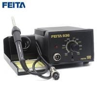 FEITA 936 ESD Soldering Iron Station AC 220V Europe Plug with soldering iron stand FEITA 907 soldering handle for Electronic DIY