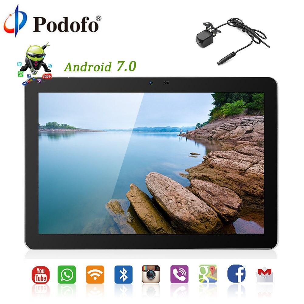 Podofo Android 7.0 10.1 pouces voiture appuie-tête moniteur HD écran tactile HD IPS TFT 1920*1080 WIFI USB/SD/HDMI/IR/FM caméra avant arrière