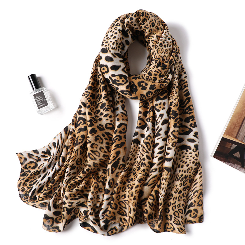 Hijab Sale Promotion Adult Linen Winter 2019 Women Winter Warm Shawl Fashion Bandana Thicken Scarves Luxury Big Cotton Leopard