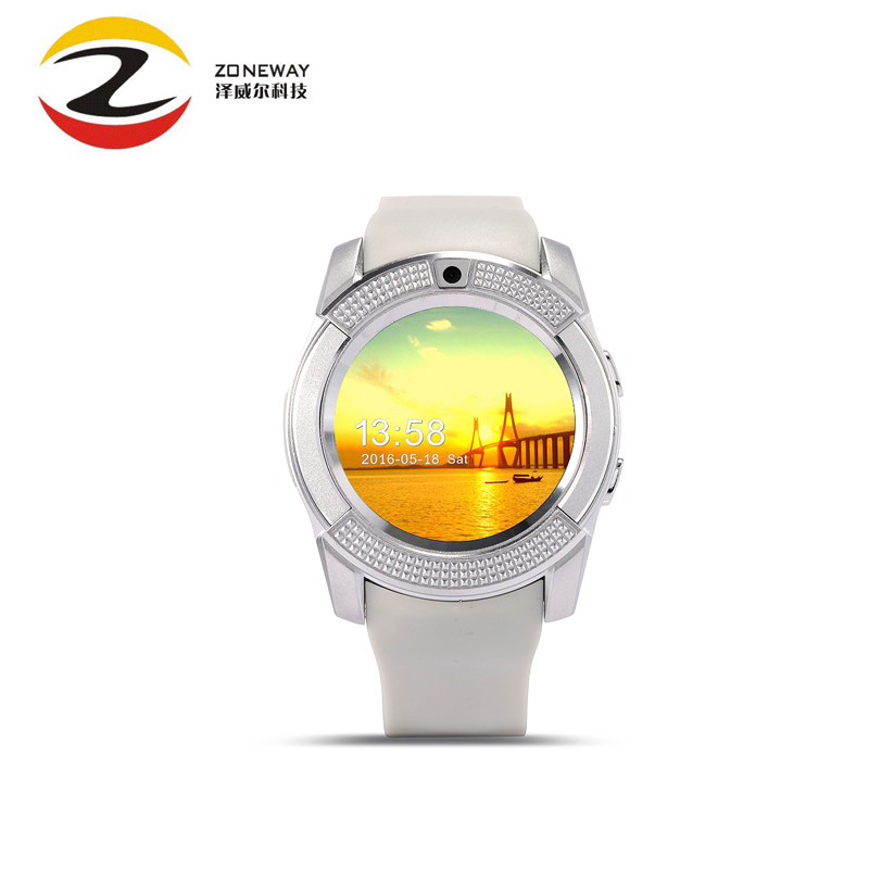 imágenes para 2016 caliente!!! v8 smart watch reloj con ranura para tarjeta sim tf smartwatch reloj bluetooth adecuado para apple iphone android teléfono