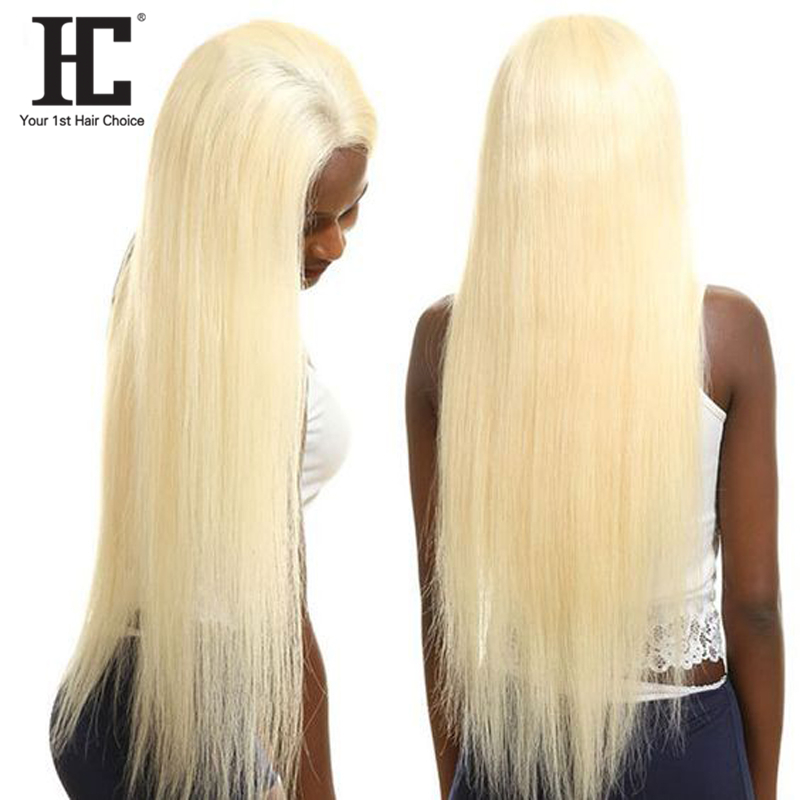 613 Honey Blonde 13x4 Lace Front Human Hair Wigs Pre Plucked Brazilian Straight Glueless Lace Frontal Wigs Remy 150% HC
