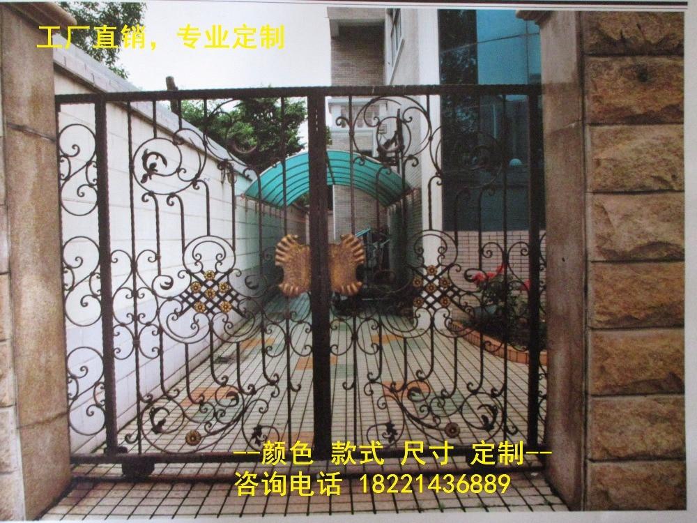 Custom Made Wrought Iron Gates Designs Whole Sale Wrought Iron Gates Metal Gates Steel Gates Hc-g77