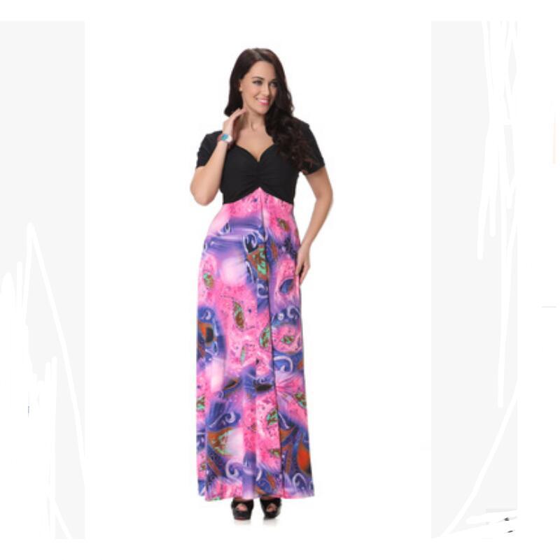 Maxi Multi Robe Féminine Nouveau Grande Boho Femmes D'été Femme 7xl Lady Sexy De Taille Pour Plus Robes Longue Floral Vintage Fendu L m8nwOyN0v
