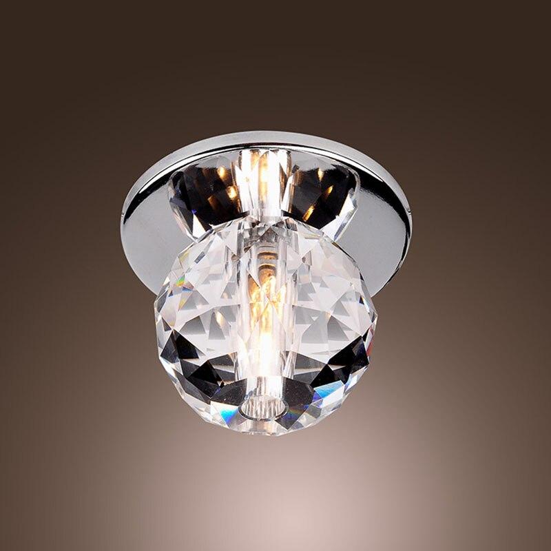 New Modern K9 Crystal Ball LED Ceiling Light Lamp Lustre Flush Mount Hallway Lighting For Bedroom Living Room Washroom CL138 lustre flush mount led modern crystal ceiling lamp lights with 1 light for living room lighting free shipping