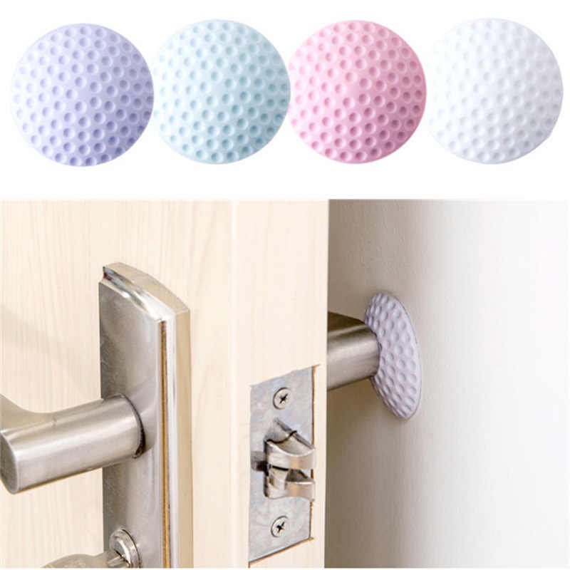 1 Pcs Home Practical Self Adhesive Wall Protector Baby Safety Lock Door Handle Bumper Guard Stopper Rubber Silencer Crash Pad
