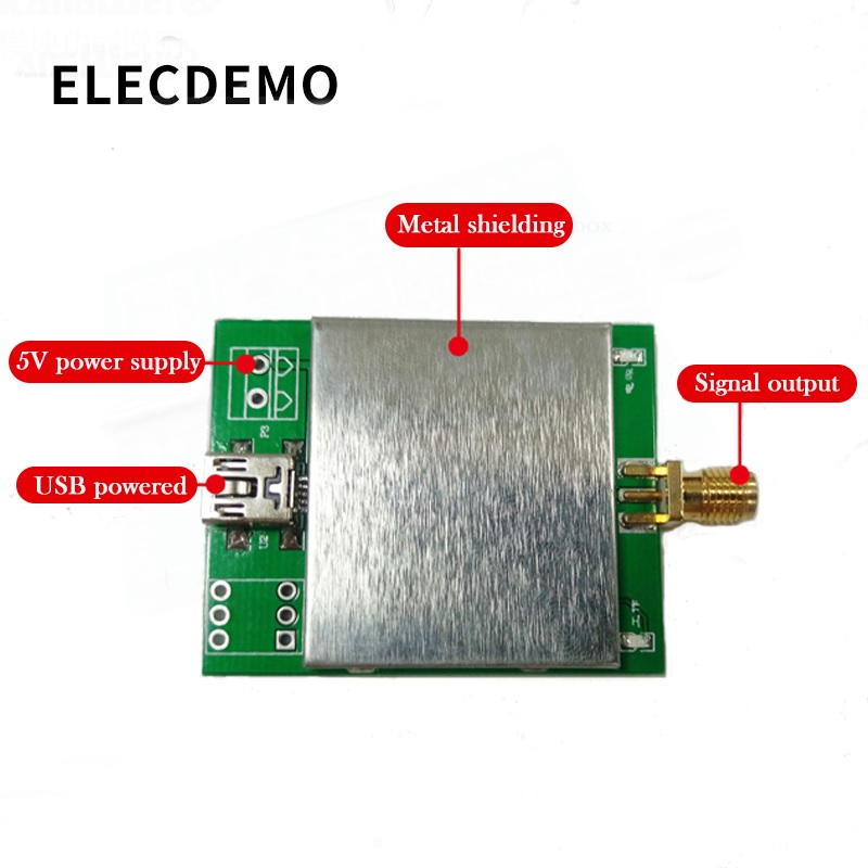 Image 2 - AD9833 Module frequency generator DDS signal square wave sine wave triangle wave serial host computer control-in Demo Board Accessories from Computer & Office