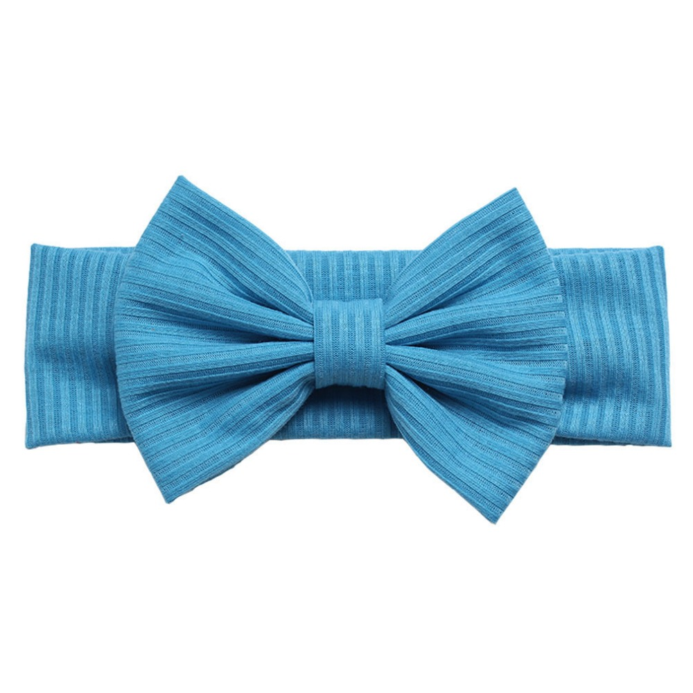 30pcs lot 2019 New Large 5 Cotton Fabric Bows Headband Baby Girls Bow Knot Head Turban