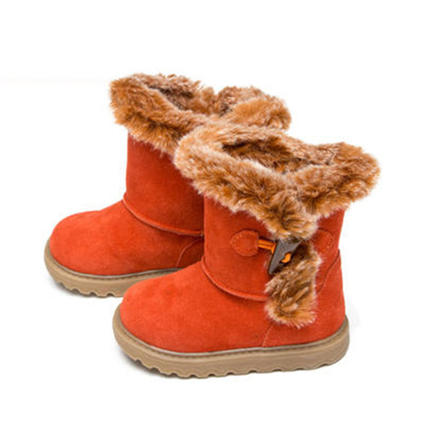 Fashion winter 1pair Genuine Leather Baby Shoes Snow Boots+inner 14.5-17.9cm,Children Kids Girl Shoes good quality 1pair orthopedic shoes girl genuine leather shoes inner 15 19cm children sneakers sports