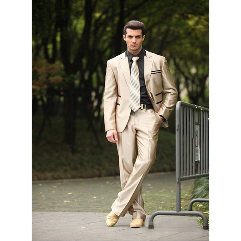 101 Classic Style Wedding Suit 1 Buttons Groom Tuxedos Groomsman Suit Custom Made Man Suit for Man Clothes(Jacket+pants)