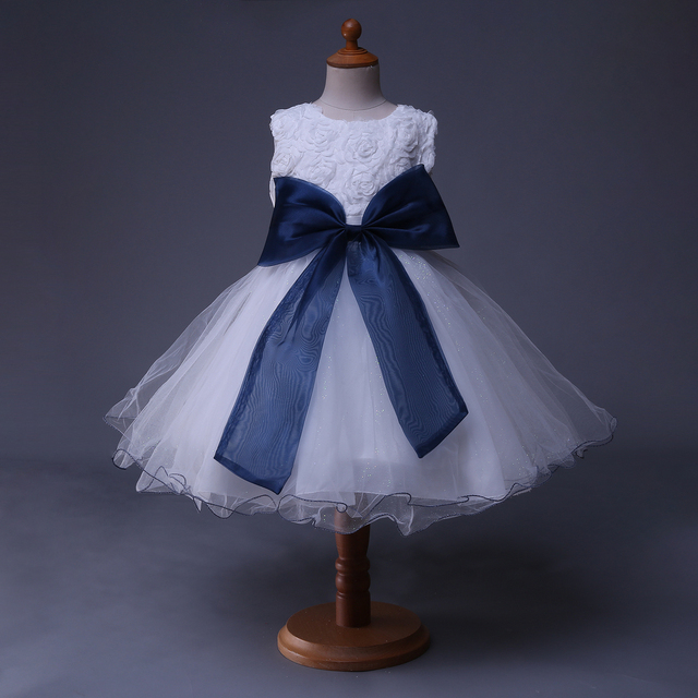 Aliexpress buy cuestyles white dresses for girls navy bow baby cuestyles white dresses for girls navy bow baby party toddler lace flower girl dresses gd40514 mightylinksfo