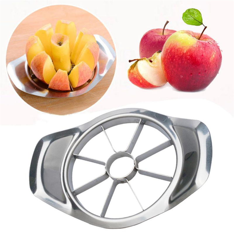 Double New Stainless Steel Fruit Apple Pear Easy Cut Slicer Cutter Divider Peeler Eco-Friendly Easy Clean 2018 hot sale C0308#30