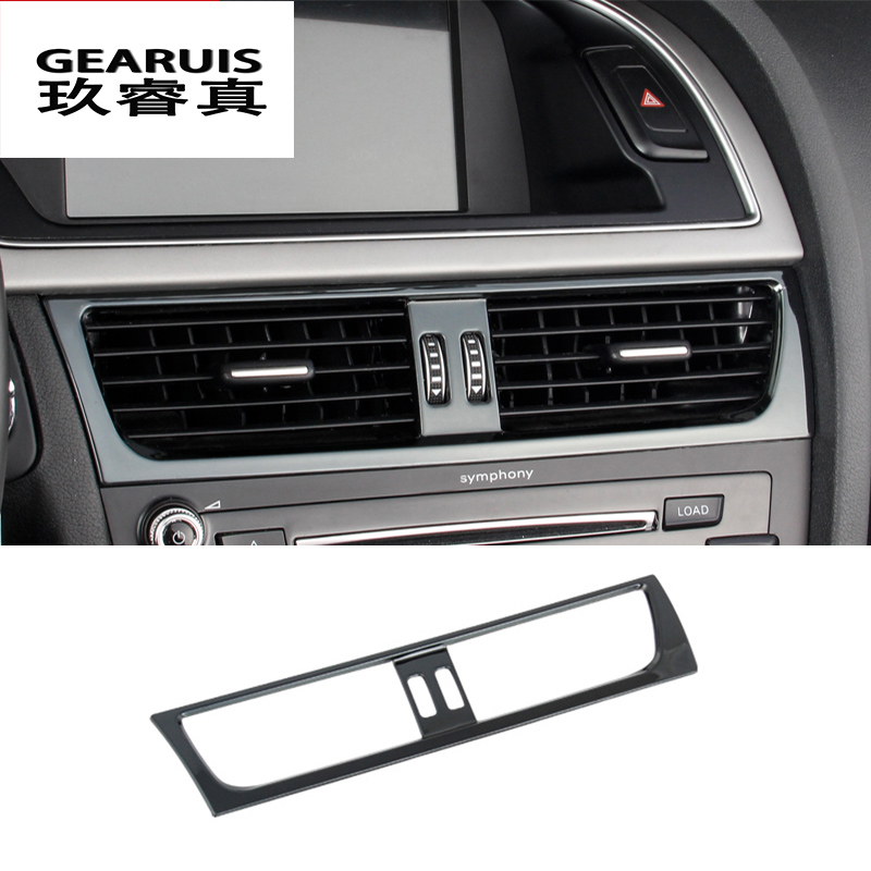 Car styling Car Interior Front air conditioner outlet Decorative Frame Cover Sticker Trim for Audi a4 b8 a5 auto Accessories