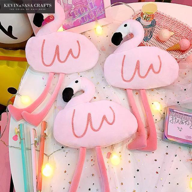 Фламинго пенал качество розовый школьные принадлежности BTS канцелярские подарок Pencilcase школы милый пенал Школа Карандаш Мешок