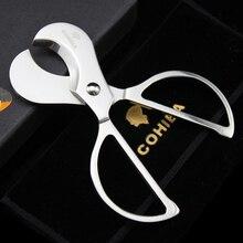 NEW 1PCS Cohiba Silver Stainless steel Scissor Cigar Cutter