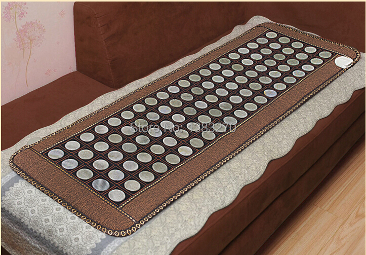 2017 Health care heating jade massage cushion infrared thermal jade heat sofa mattress with free gift sleep eye cover 50*150CM health care product for 2017 korea heated mattress heat mat with stones jade heating jade mattresswith free gift eye cover