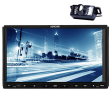 Stereo In Dash 2 din Steering Wheel Universal Auto Electronics Car DVD Player Bluetooth Auto Radio Capacitive MP5 GPS