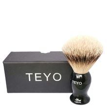 TEYO Original Super Silvertip Badger Hair Shaving Brush of Resin Handle With Gift Box Perfect for Wet Shave Double Edge Razor