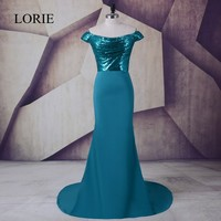 Cheap Long Evening Dress 2017 LORIE Sequin Plus Size Mermaid Prom Dresses Women Special Occasion Formal Party China Custom Made