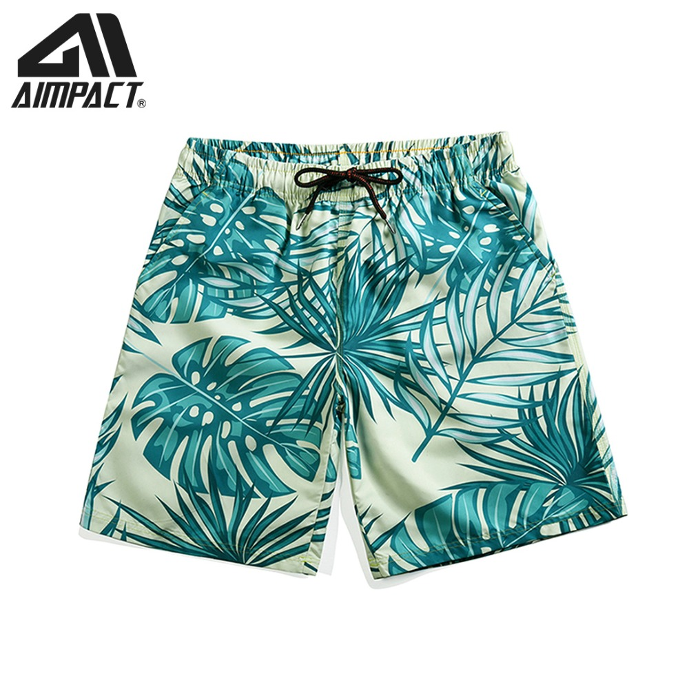 Hawaii Leaf Quick Dry Swim Trunks for Men 2019 Fashion 3D Print   Board     shorts   Surf Beach Trunks Male Casual Hybird   Shorts   AM2120