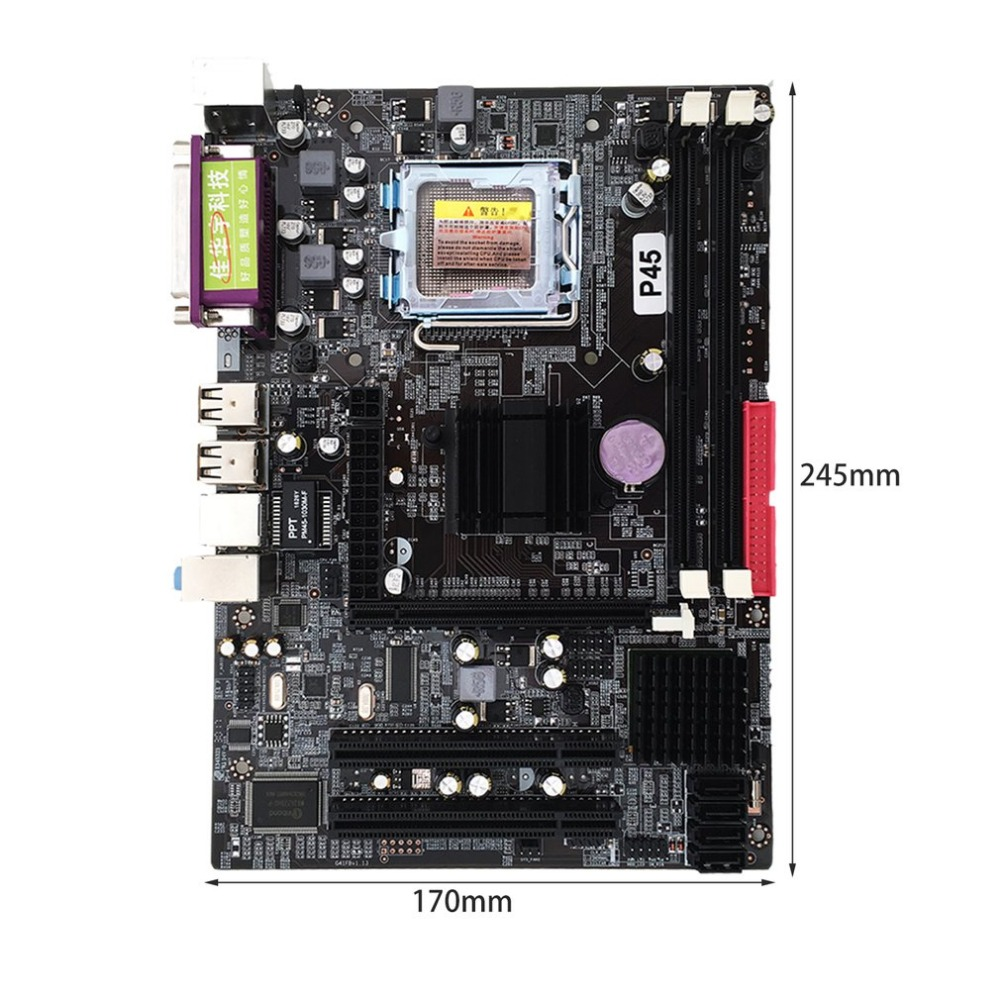 Professional Mainboard P45 Socket LGA 771 DDR3 Memory 8GB Computer Motherboard Support Xeon CPU 6-channel Audio Chip
