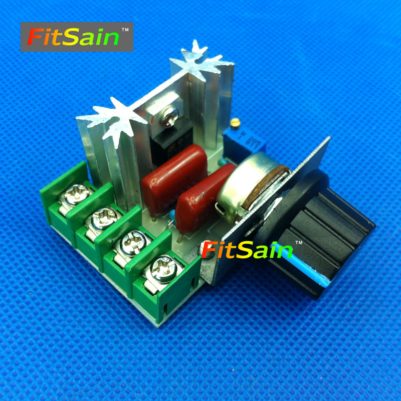 FitSain-2pcs AC 220V 2000W  SCR Voltage Regulator Dimming Dimmers Speed Controller Control Switch Thermostat For Brushed Motor геймпад беспроводной microsoft xbox 360 wireless controller nsf 00002