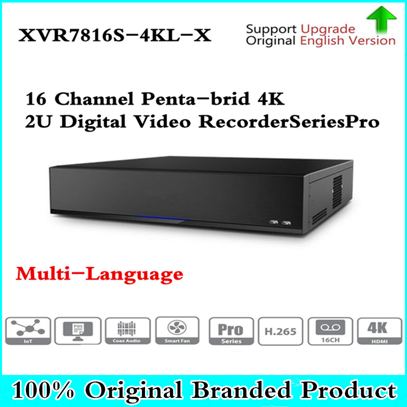 Оригинальный DH Multi-Язык версия DVR XVR 16 каналов пента-Брод 4 К H.265 2U цифрового видео Регистраторы SeriesPro XVR7816S-4KL-X