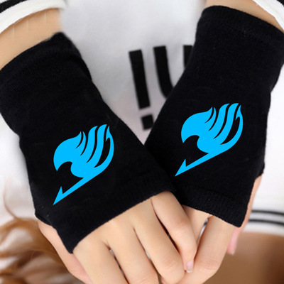 Fairy Tail Gloves Unisex Cotton Fingerless Gloves