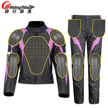 Riding Tribe Motorcycle Jacket Womens Waterproof Protective Gear Jacket & Moto Pants Suit Jacket Touring Motorbike Clothing Set