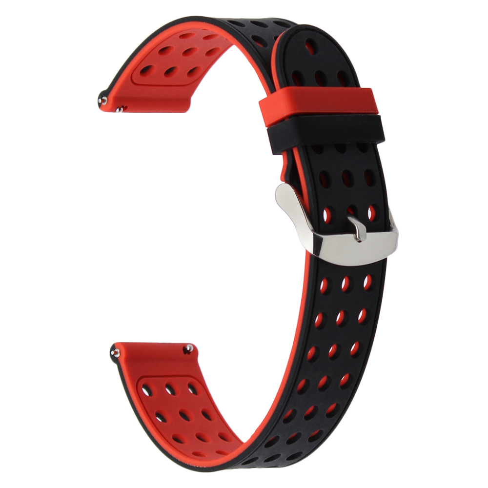 20mm Quick Release Silicone Rubber Watchband for Ticwatch 2 42mm Ticwatch E Withings Steel HR 40mm Watch Band Sport Wrist Strap