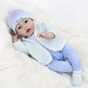 Кукла Bebe-reborn для девочек, 55 см, силиконовая кукла reborn, l. o. l, Реалистичная кукла boneca для маленьких мальчиков, подарок reborn, NPK DO
