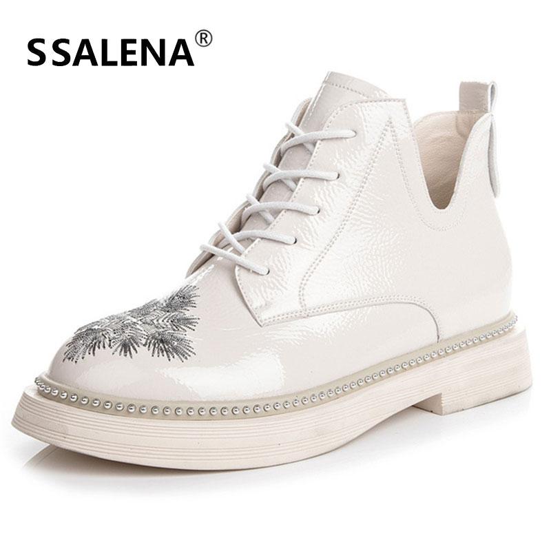 2018 femmes imprimé Floral bottines bout rond talon bas bottes courtes dames élégant en cuir antidérapant chaussures AA12124