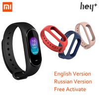 Russian Version Xiaomi Hey Plus Smartband 0.95 Inch AMOLED Color Screen Builtin Multifunction NFC Heart Rate Monitor Smart Watch