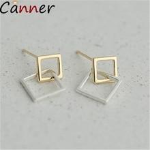 CANNER Trendy Geometric Earrings For Women 925 Sterling Silver Earrings Big Circle Earrings Drop Earings Fashion Jewelry Gift F4 geometric overstate big circle drop earrings