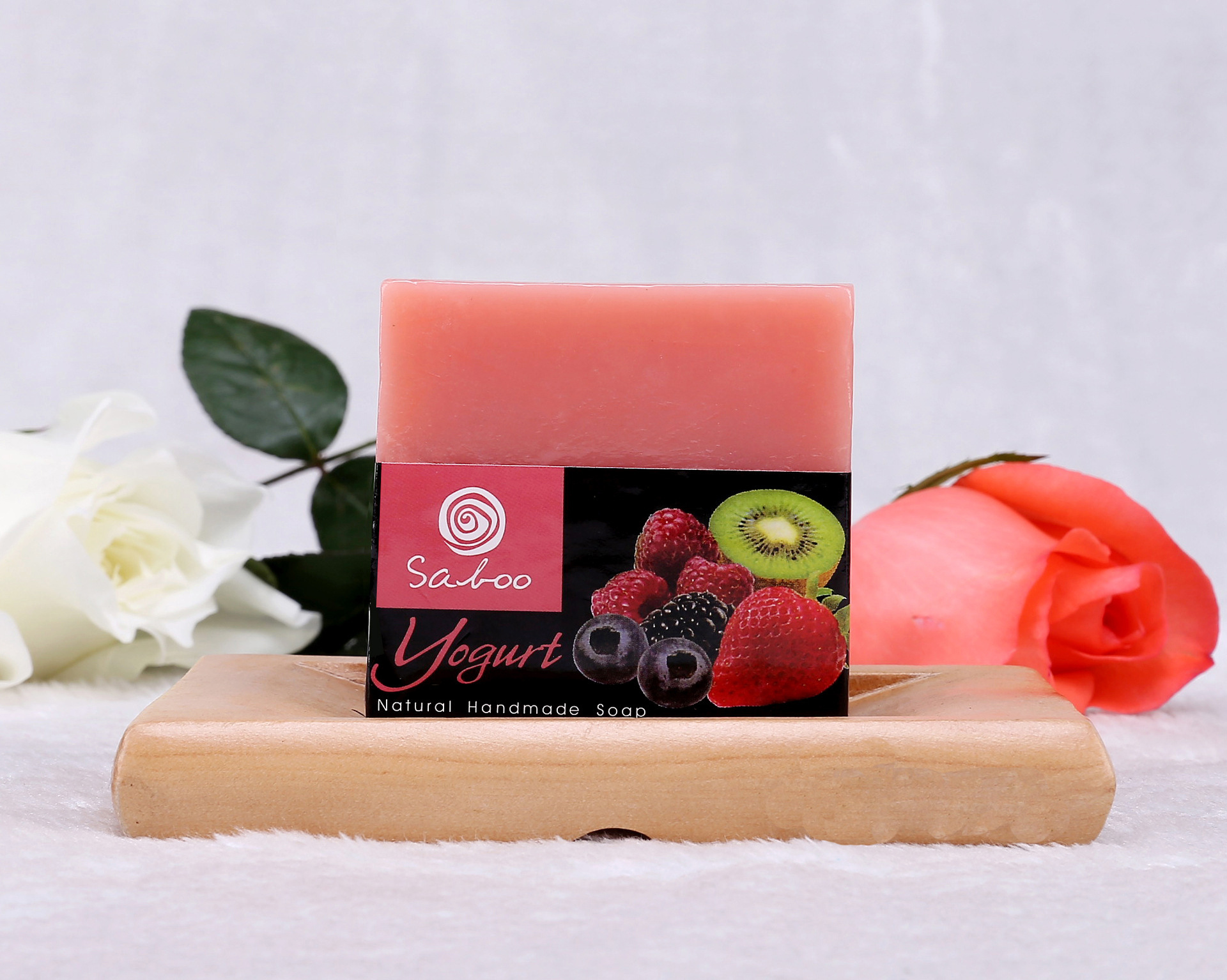 Yogurt Essential Oil Soap Handmade Soap 100g Anti-aging Blemishes Whitening, Relieve Fatigue Moisturizing