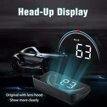Car HUD Head Up Display 2019 New Style OBD2 OBDII Overspeed Warning System Projector Windshield Auto Electronic Voltage Alarm bigbigroad car obdii 2 or euobd interface hud head up display digital speedometer windscreen projector overspeed warning