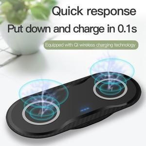 Image 3 - Station de chargement rapide 20W pour Samsung S20 S10 S9 10W double chargeur sans fil Qi pour Apple iPhone 11 XS XR X 8 Airpods Pro